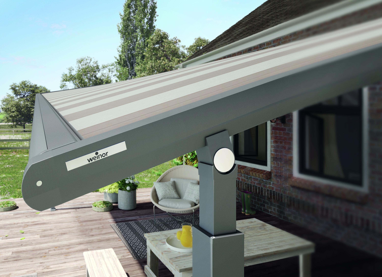 detail weinor markisen terrassend cher glasoase. Black Bedroom Furniture Sets. Home Design Ideas