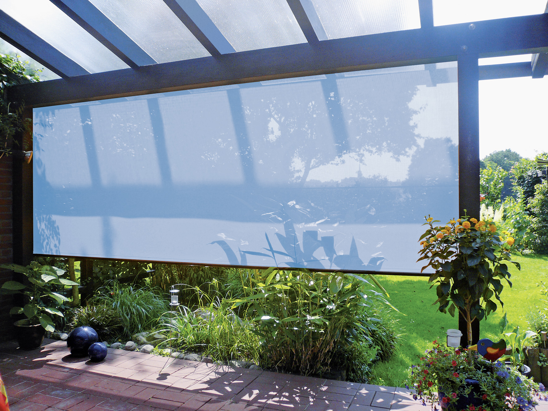 Vertikaler Sonnenschutz Balkonsichtschutz Sonnensegel